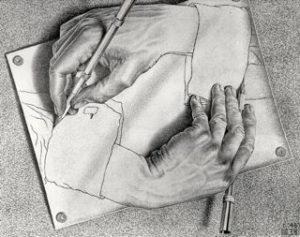 Mani che disegnano Escher